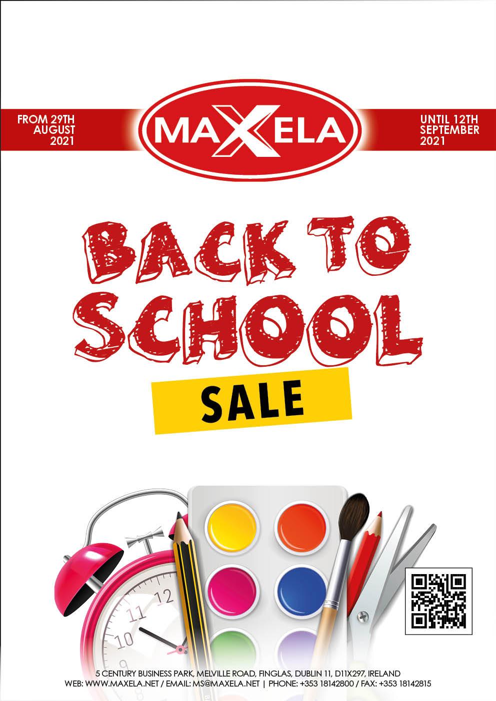 Maxela Back to School Sale 2021
